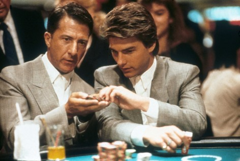 RAIN MAN US 1988 DUSTIN HOFFMAN TOM CRUISE Date 1988, , Photo by: Mary Evans/GUBER-PETERS COMPANY / MIRAGE ENTERTAINMENT / STAR PARTNERS/Ronald Grant/Everett Collection(10379650)