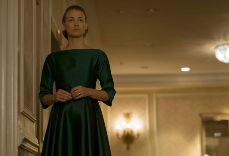 "The Handmaid's Tale -- ""A Woman's Place"" Episode 106 -- A Mexican Ambassador visiting Gilead questions Offred about her life as a Handmaid. Serena Joy reflects on her marriage and the role she once played in GileadÕs inception. Serena Joy (Yvonne Strahovski), shown. (Photo by: George Kraychyk/Hulu)"